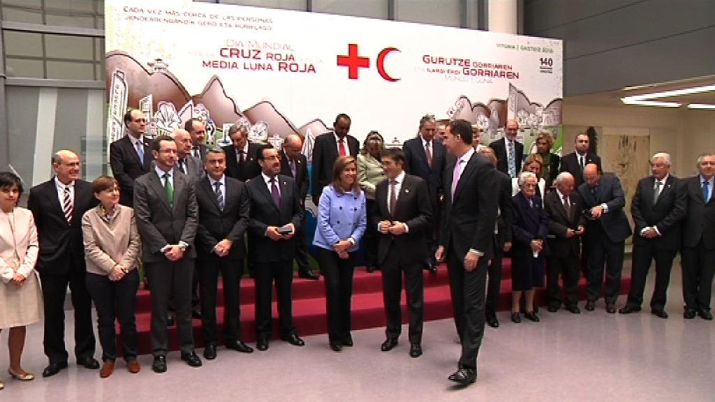 El Lehendakari preside, junto a los Príncipes de Asturias, el Día Mundial de la Cruz Roja y la Media Luna Roja [5:49]