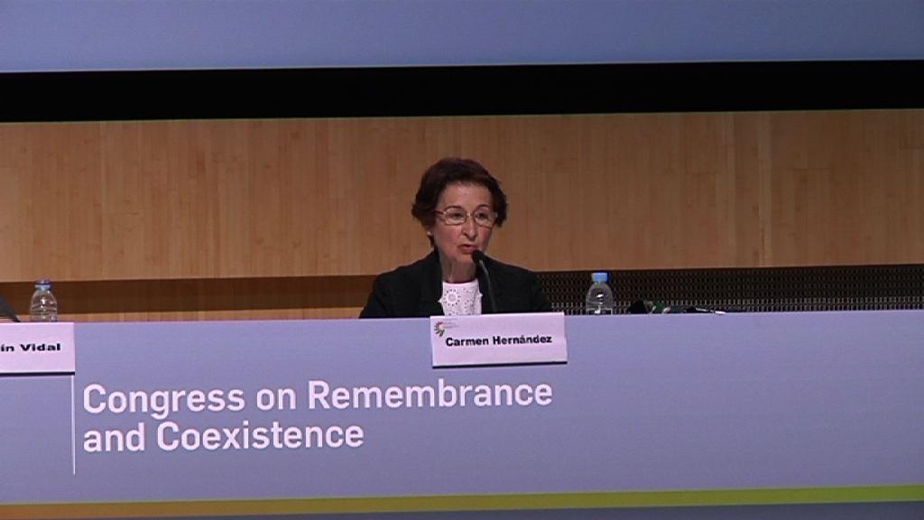 Arranca el Congreso sobre Memoria y Convivencia, Carmen Hernández [14:13]