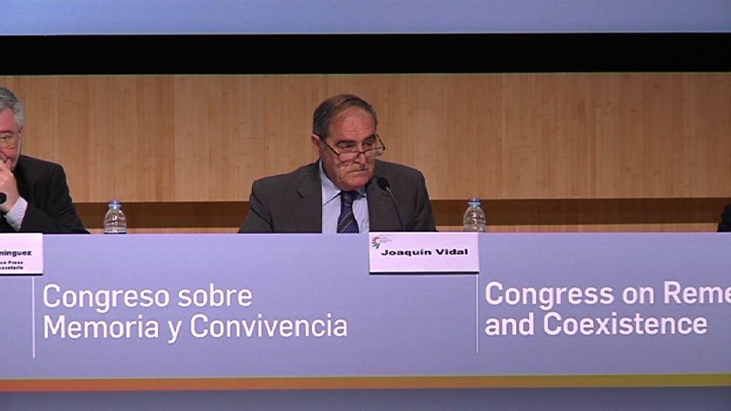 Arranca el Congreso sobre Memoria y Convivencia, Joaquín Vidal [23:55]