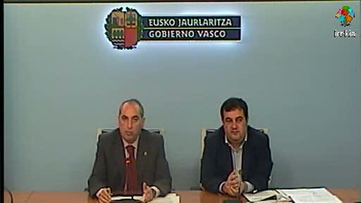 Donostialdeko metroko Herrera-Altza zatiko obren adjudikazioari buruzko prentsaurrekoa [18:06]