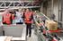 Lehendakariak Eroskiren Elorrioko plataforma automatiko berriaren obrak bisitatu ditu