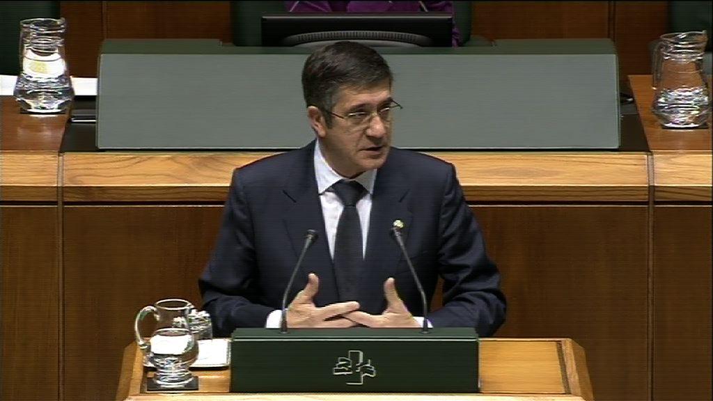 """Lehendakari: """"Euskadi necesita la acción firme de un gobierno y no la inestabilidad y la paralización de procesos electorales""""  [1:01]"""