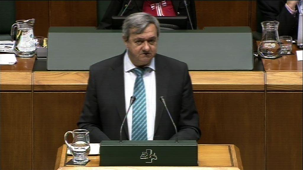 """Aguirre: """"No podemos fiar nuestras políticas al ajuste en el gasto sin un debate previo de nuestro modelo de financiación"""" [39:08]"""
