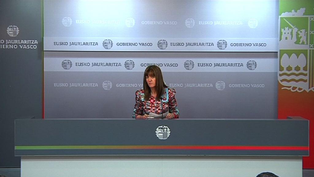 Rueda de prensa de la portavoz del Gobierno Vasco, Idoia Mendia [39:42]