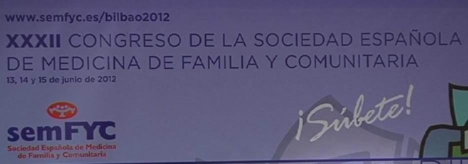 Tercera jornada del XXXII Congreso de la Sociedad Española de Medicina Familiar y Comunitaria (semFYC) en la Sala A1 del Euskalduna. Atención a la salud en AP. [113:30]