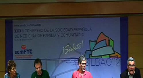Tercera jornada del XXXII Congreso de la Sociedad Española de Medicina Familiar y Comunitaria (semFYC) en la Sala A1 del Euskalduna. Mesa AMF. [77:49]