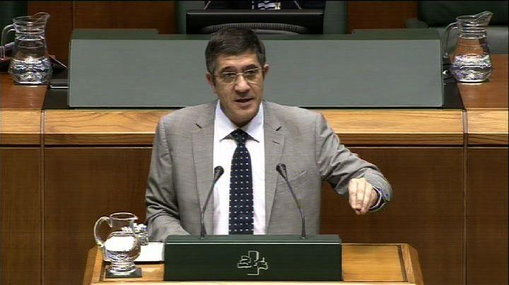 """Lehendakari: """"Euskadi tiene la carga financiera más solvente de España"""" [315:15]"""