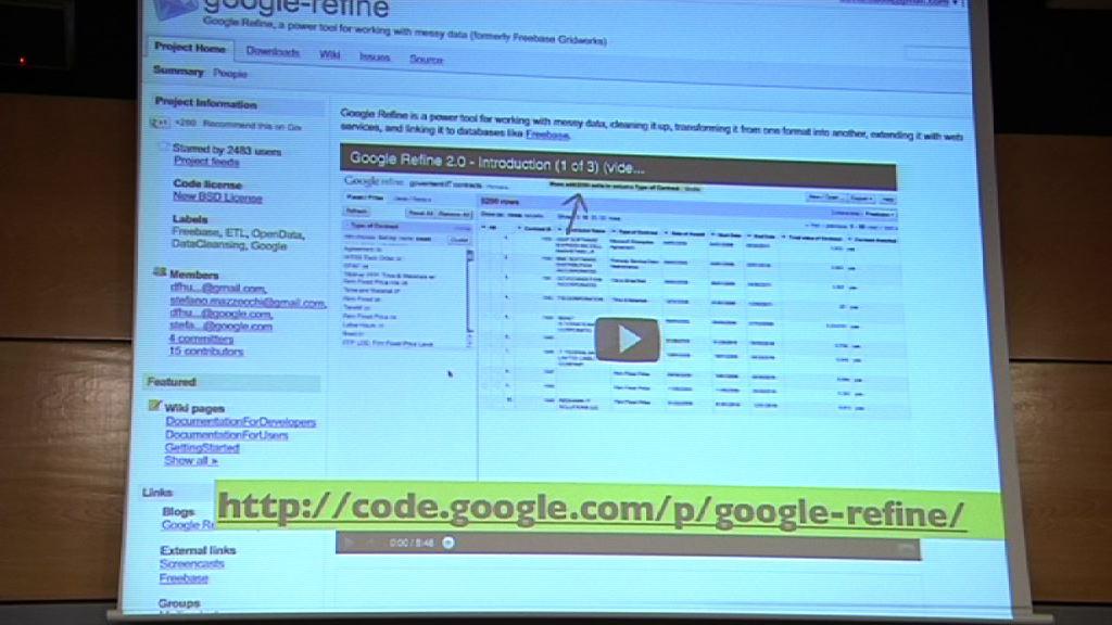 Introducción a Google Refine (Curso periodismo de datos 4/10) [90:26]