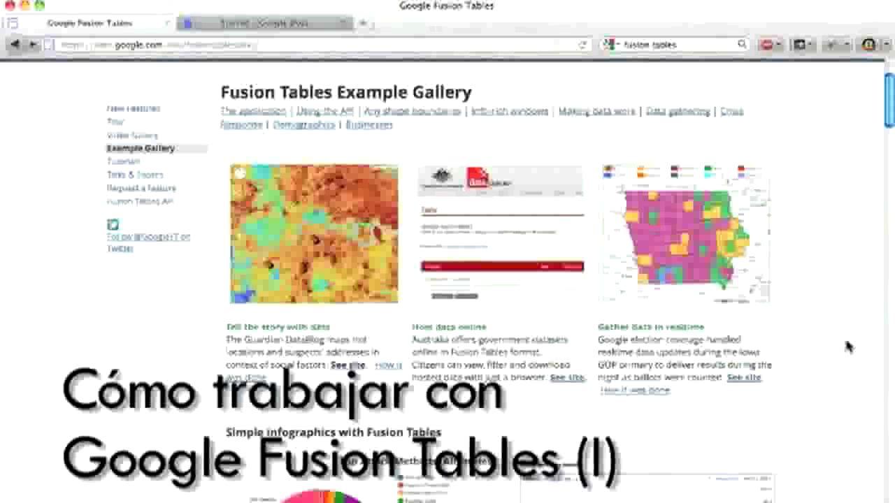 Cómo trabajar con Google Fusion (Curso de periodismo de datos 6/10) [8:22]