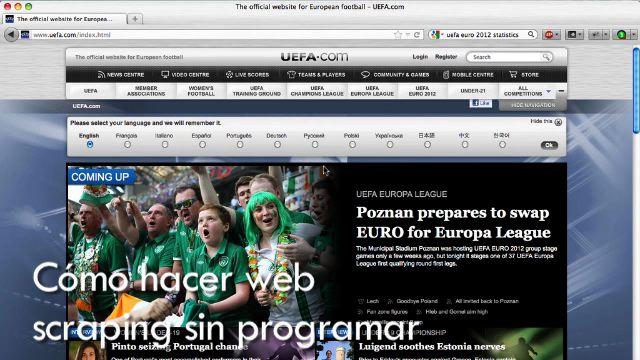 """Cómo hacer """"web scraping"""" sin programar (Curso periodismo de datos 8/10) [6:08]"""