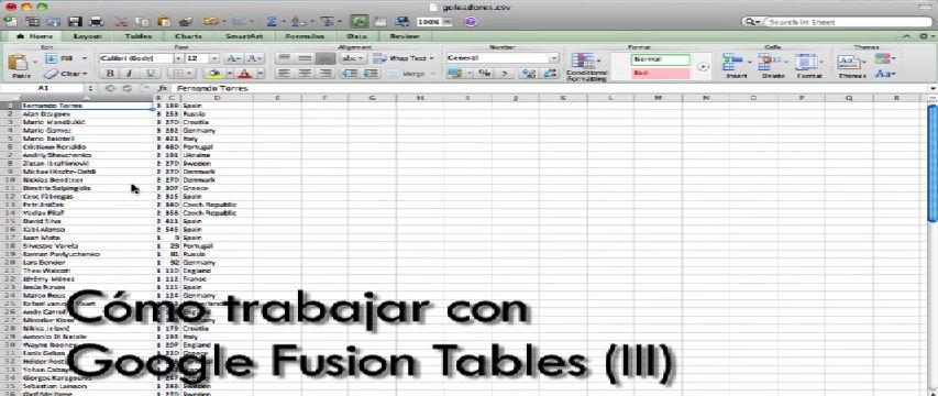 Google Fusion Tables (III) (Datuen kazetaritzari buruzko ikastaroa 9/10) [8:44]