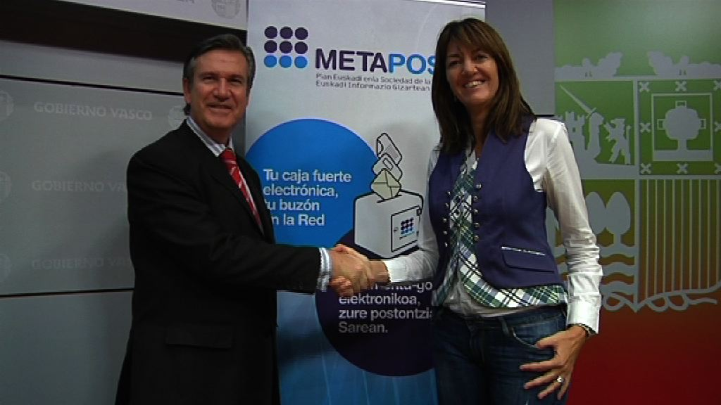 Los 67.000 funcionarios del Gobierno Vasco podrán recibir su nómina en METAPOSTA [1:11]