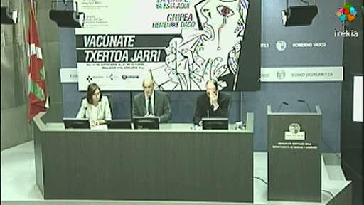 Bengoa presenta la campaña de vacunación contra la gripe, que comenzará el lunes [36:38]