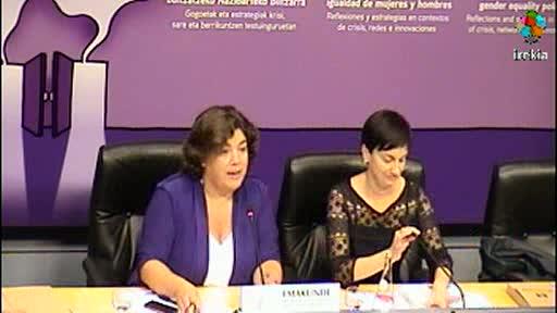 Presentación del Congreso Internacional para el impulso de políticas de igualdad de mujeres y hombres [9:40]