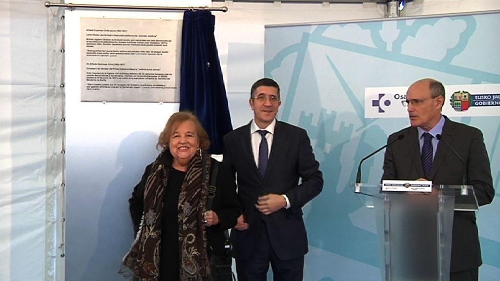 El Hospital de Urduliz llevará el nombre de Alfredo Espinosa  [8:11]