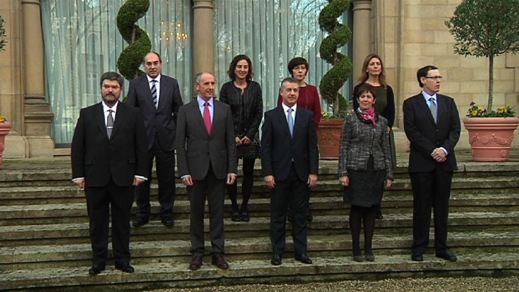 El Lehendakari, Iñigo Urkullu, preside la toma de posesión del nuevo Gobierno Vasco [13:46]