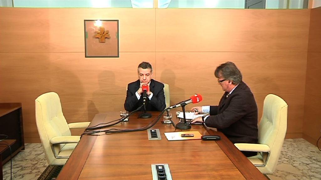 "El Lehendakari pedirá a Rajoy ""respeto"" a las competencias vascas [21:03]"