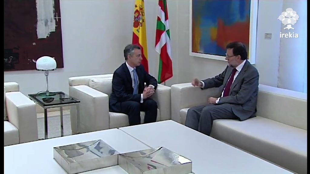 """El Lehendakari destaca que su reunión con Rajoy ha sido """"fructífera"""" [45:19]"""