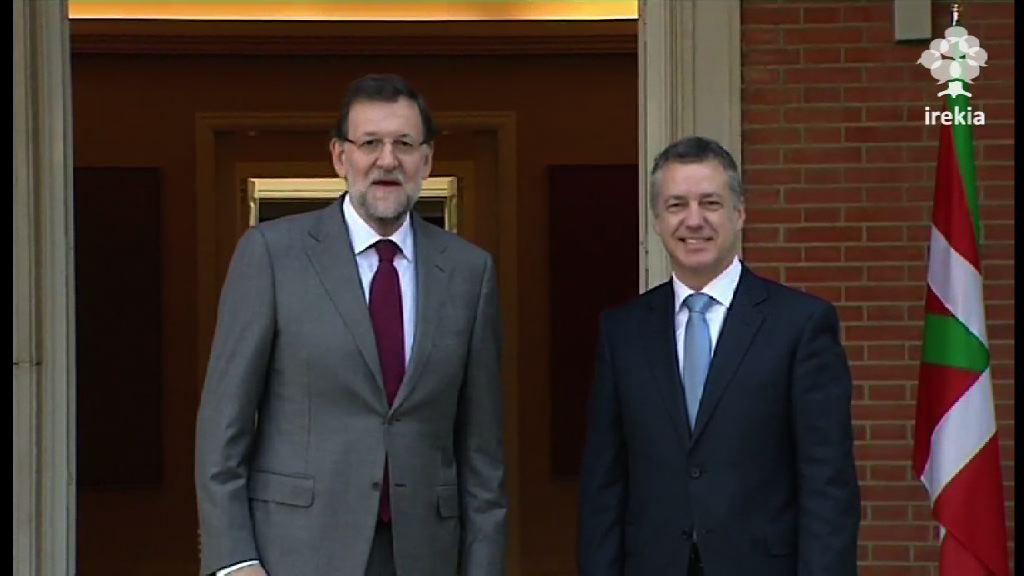 Imágenes de la reunión del Lehendakari, Iñigo Urkullu, con Mariano Rajoy [1:16]