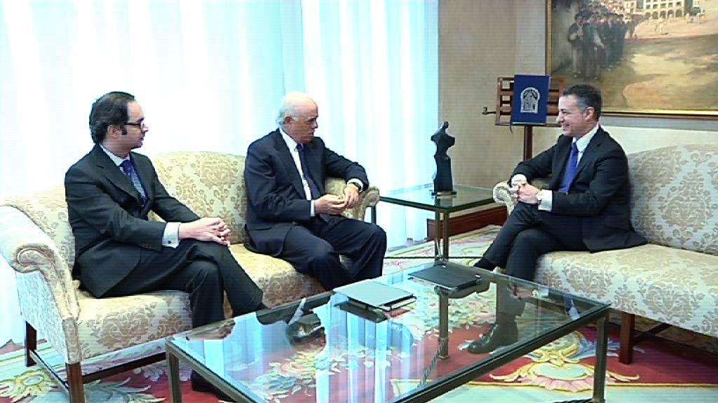 El Lehendakari se ha reunido con el presidente del BBVA [1:08]