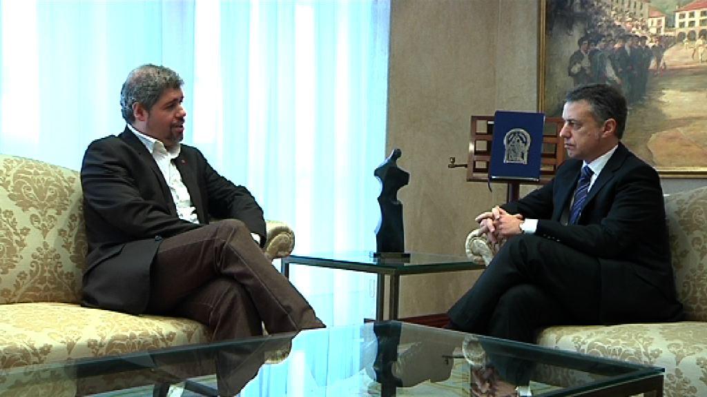 El Lehendakari se ha reunido con el secretario general de CC.OO Euskadi [0:59]