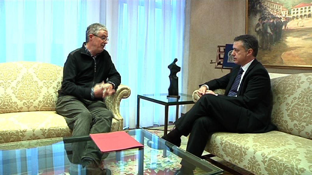 El Lehendakari se ha reunido con el secretario general de ELA [1:00]