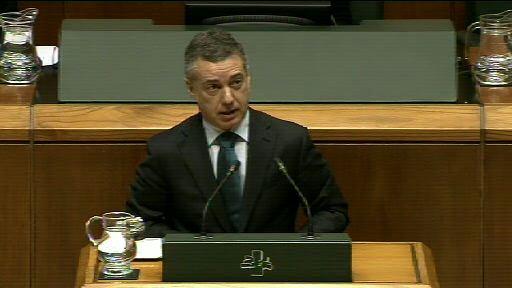 El Lehendakari responde al grupo Mixto UPyD sobre al actual reparto de escaños en el Parlamento Vasco  [1:17]