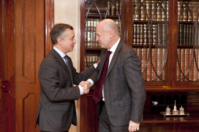 El Lehendakari se reúne con el Ararteko, Iñigo Lamarca