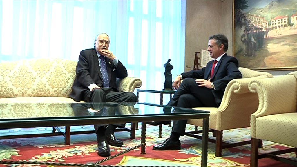 El Lehendakari se reúne con el alcalde de Bilbao [0:50]