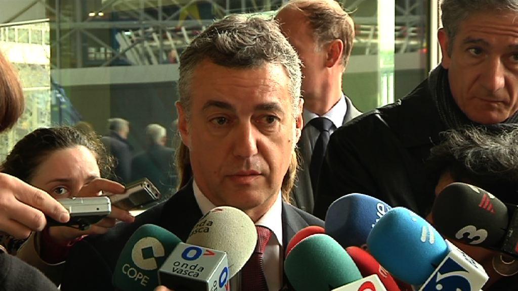 El Lehendakari presenta a Barroso sus planes de Gobierno, su compromiso con la Unión y la necesidad de políticas de estímulo (Declaraciones Lehendakari) [12:41]