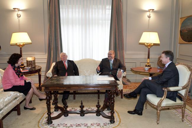 El Lehendakari recibe al Embajador de Austria