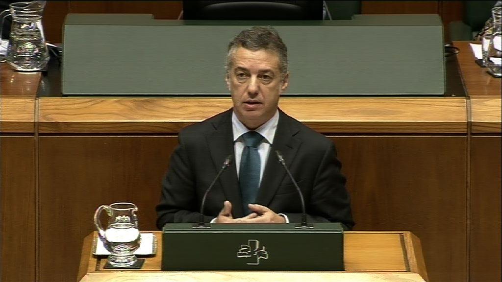 """El Lehendakari presentará ante la Cámara vasca un programa legislativo """"realista""""   [138:08]"""