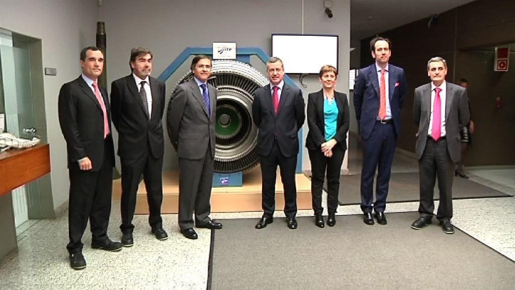 El Lehendakari ha visitado las instalaciones de ITP en Zamudio [1:07]