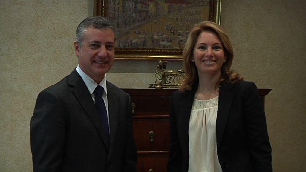 El Lehendakari recibe a la nueva presidenta del PP del País Vasco [1:02]