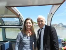 Oregi visite le port de Bayonne invitée par la Chambre de Commerce et d'Industrie