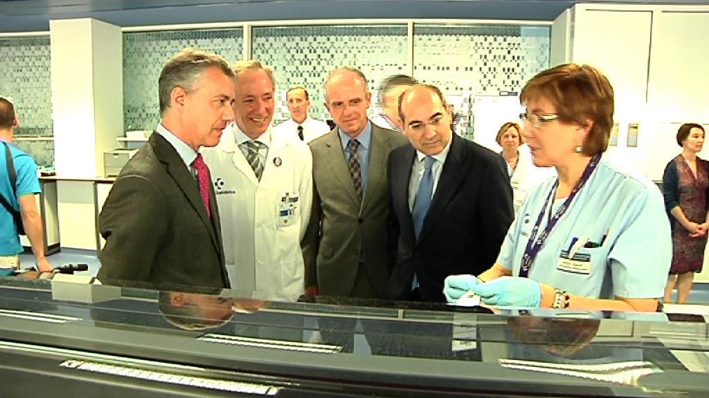 """El Lehendakari asegura que el nuevo Laboratorio de Cruces será """"un referente"""" y """"situará a Euskadi en cotas de excelencia"""" [19:16]"""