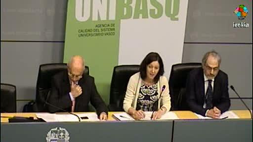UNIBASQ evalúa por primera vez 120 informes de seguimiento de títulos de grado de las Universidades Vascas [38:57]