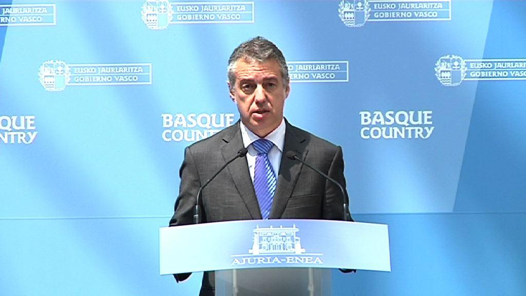 """El Lehendakari afirma que la resolución de la Comisión Europea """"no garantiza el futuro del sector naval"""" [3:34]"""