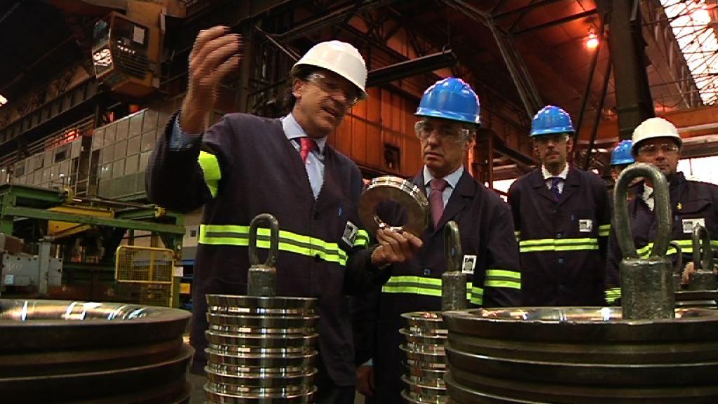 El Lehendakari visita la empresa Tubacex en su 50 aniversario [2:21]