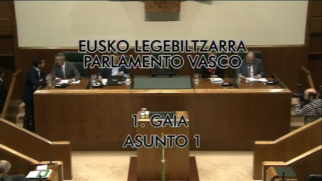 EL Lehendakari responde a las preguntas e interpelaciones formuladas en el Pleno de Control al Gobierno [6:35]