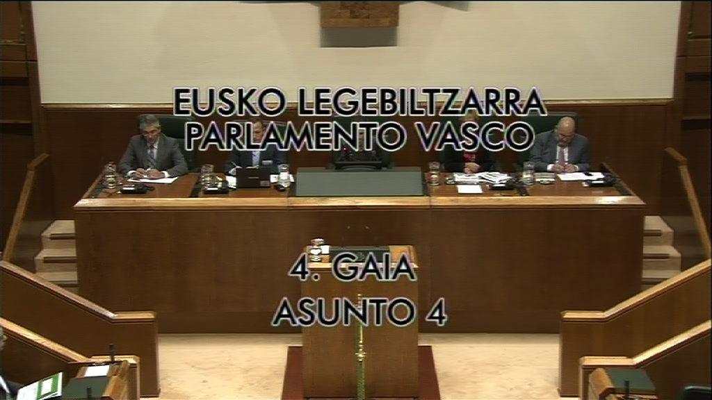 EL Lehendakari responde a las preguntas e interpelaciones formuladas en el Pleno de Control al Gobierno [8:50]