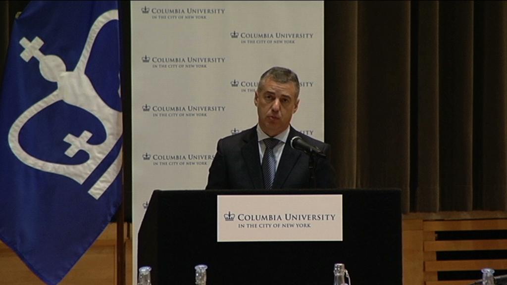 El Lehendakari defiende en Estados Unidos un nuevo estatus para un mayor bienestar y mayor justicia social en Euskadi [28:24]