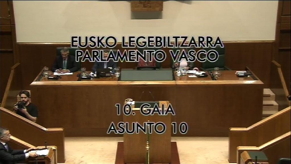Pleno de Control  Europa nuevo estatus, grupo Popular Vasco [9:00]