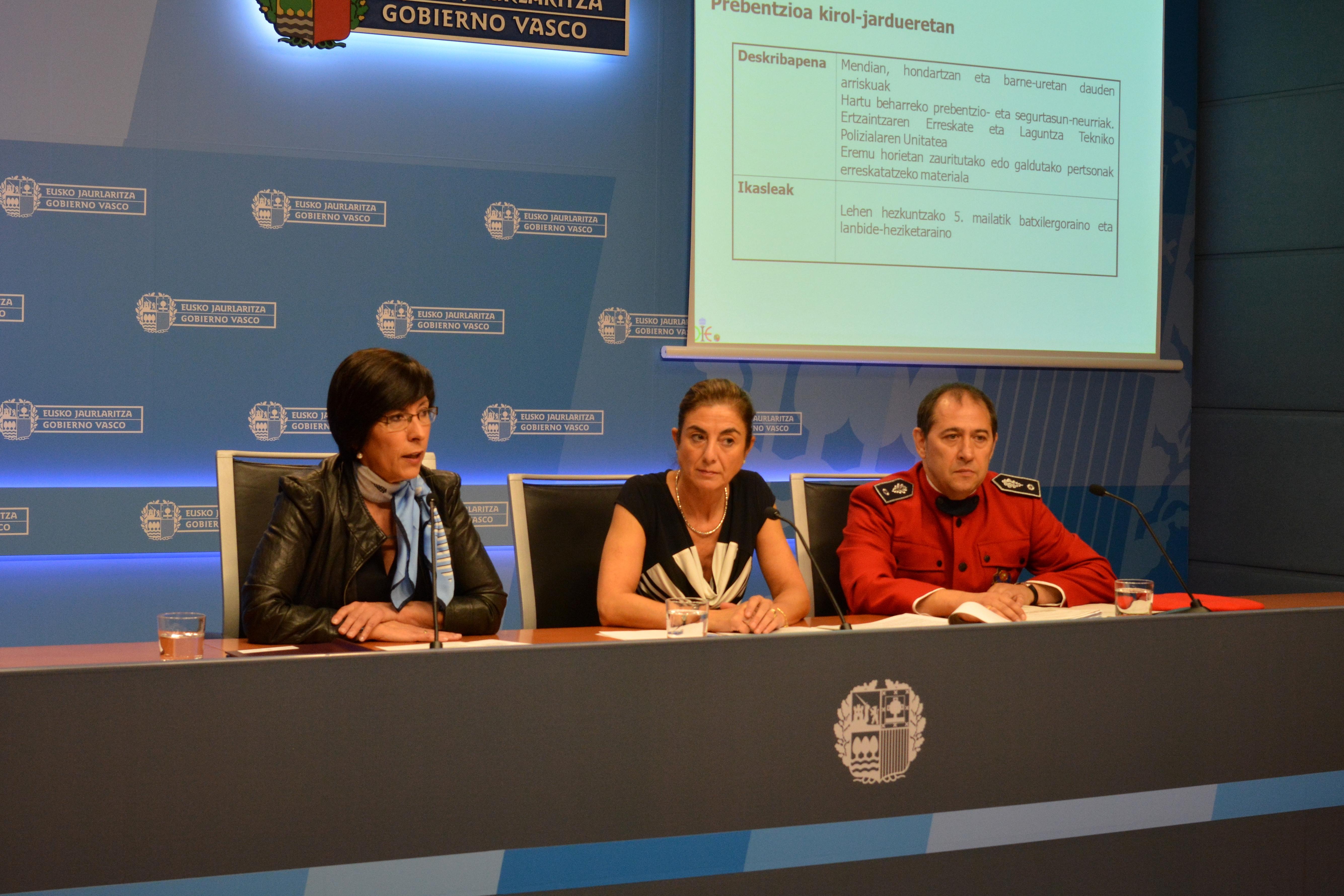 Un total de 150 ertzainas voluntarios impartirán charlas preventivas sobre ciberbullying, acoso escolar, consumo de drogas y seguridad vial en los centros escolares vascos  [31:32]