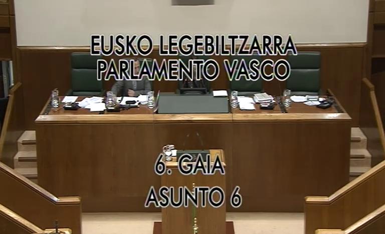 Eusko Jaurlaritzak Aurrekontu Legearen Proiektua eman dio Legebiltzarrari [86:57]
