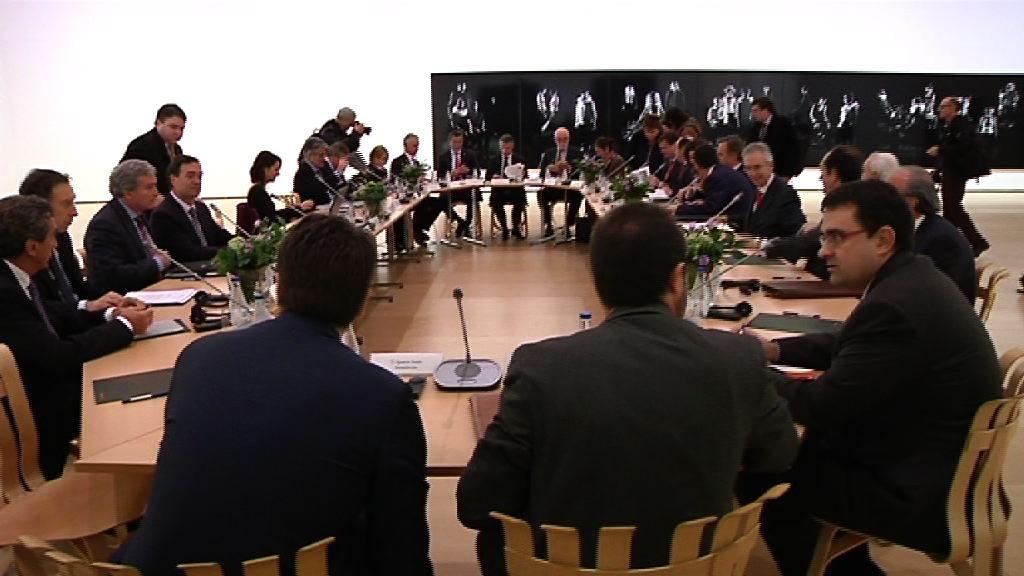 El Lehendakari preside la reunión del Patronato del Museo Guggenheim [1:03]
