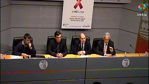 La mortalidad por Sida disminuye en Euskadi un 92% entre 1996 y 2012, pero cada año aumenta en 170 el número de personas infectadas por el VIH   [41:14]