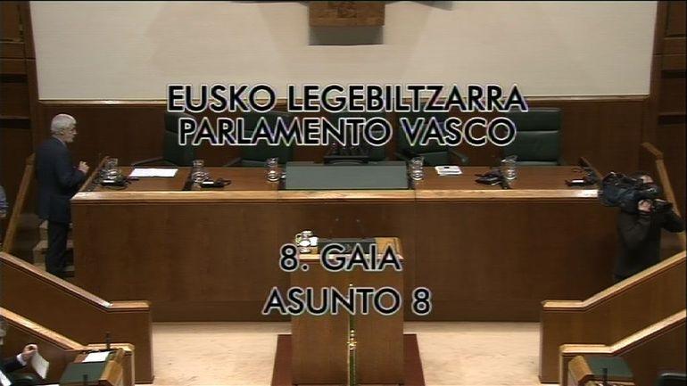 Pleno de control al Gobierno vasco