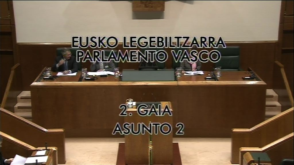 Pleno de control al Gobierno vasco [8:49]