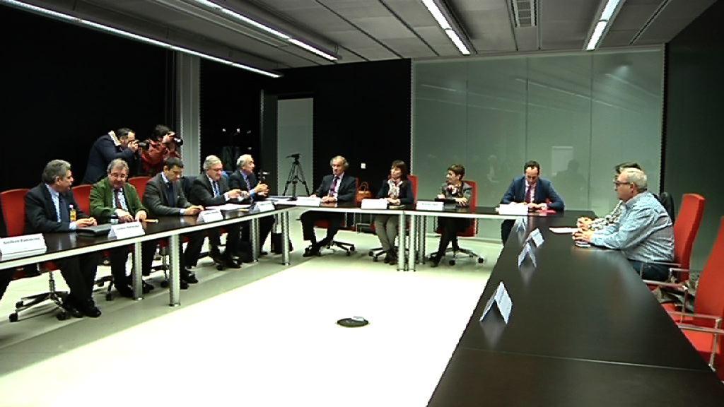 Reunión del Gobierno vasco y el sector naval [6:28]